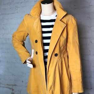 Xhileration jacket golden yellow pea coat